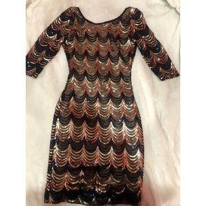 Akira Rhinsestone Mini Dress